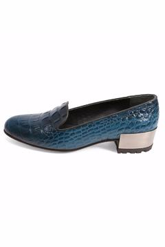 Joaquim Ferrer Croc-Design Blue Loafer - Product List Image