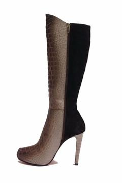 Joaquim Ferrer Croc-Embossed Long Boots - Alternate List Image