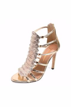 Joaquim Ferrer Soft-Gold Python-Embossed Sandals - Alternate List Image