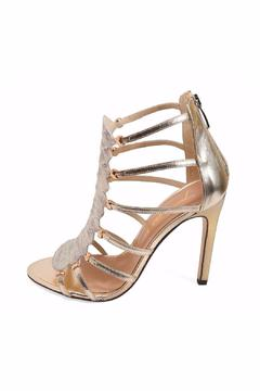 Joaquim Ferrer Soft-Gold Python-Embossed Sandals - Product List Image