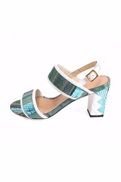 Joaquim Ferrer Turquoise-Blue Ankle-Strap Sandal - Product List Image