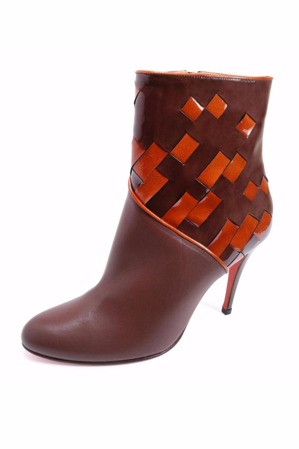 Joaquim Ferrer Two-Tone Ankle Bootie - Front Full Image