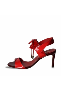 Shoptiques Product: Two-Tone Red Leather Heel
