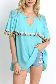 Shoptiques Product: Aqua Tassel Top