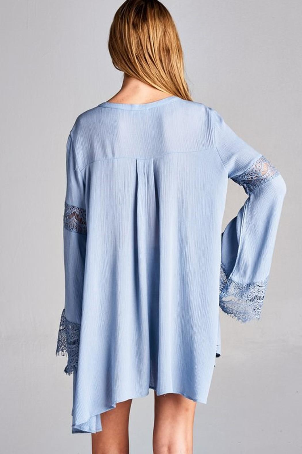 Jodifl Bell-Sleeve Tunic Top - Side Cropped Image