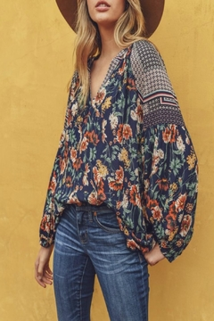 Jodifl Bubble-Sleeve Floral Top - Product List Image