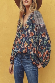 Jodifl Bubble-Sleeve Floral Top - Product Mini Image
