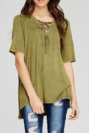 Jodifl Burnout Lace-Up Tee - Product Mini Image
