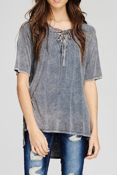 Shoptiques Product: Burnout Lace-Up Tee