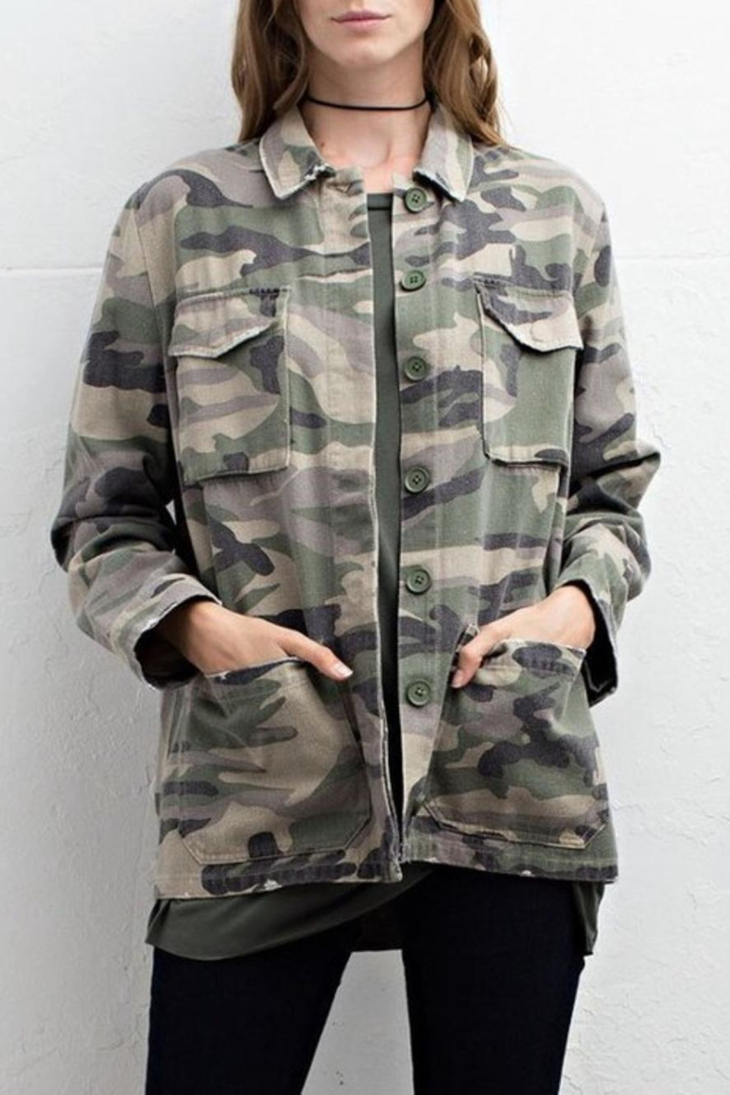 Jodifl Camo Jacket - Front Cropped Image