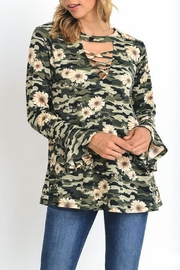 Jodifl Camouflage Floral Top - Product Mini Image