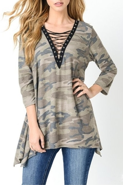 Jodifl Camouflage Lace Up Tunic - Product List Image