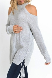 Jodifl Cold Shoulder Sweater - Front full body