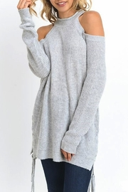Jodifl Cold Shoulder Sweater - Front cropped