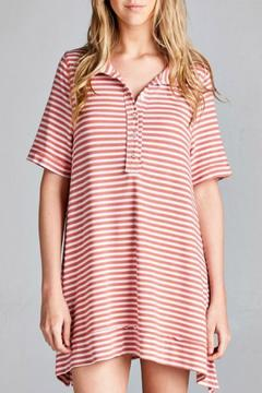 Jodifl Coral Striped Tunic - Product List Image