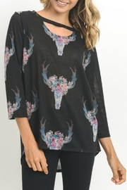 Jodifl Cow Skull Blouse - Product Mini Image
