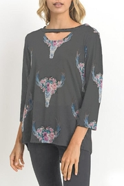 Jodifl Cow-Skull Print Top - Front cropped