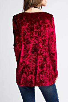Jodifl Criss Cross Velvet Top - Alternate List Image