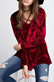 Jodifl Criss Cross Velvet Top - Product Mini Image