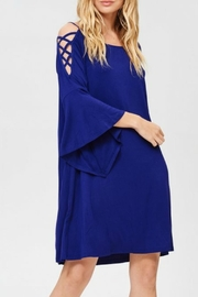 Jodifl Crisscross Shoulder Dress - Product Mini Image