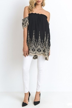 Shoptiques Product: Embrodery Cut Top