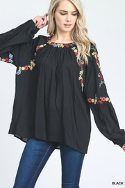 Jodifl Embroidered Bubble-Sleeves Top - Product Mini Image
