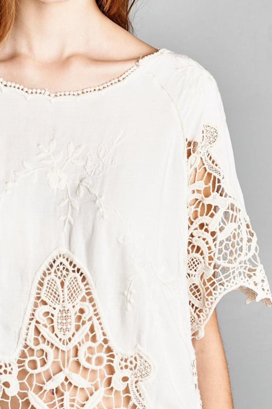 Jodifl Embroidered Crochet Blouse - Back Cropped Image