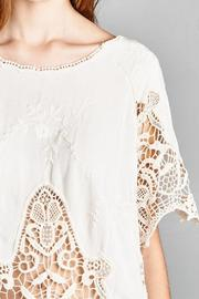 Jodifl Embroidered Crochet Blouse - Back cropped