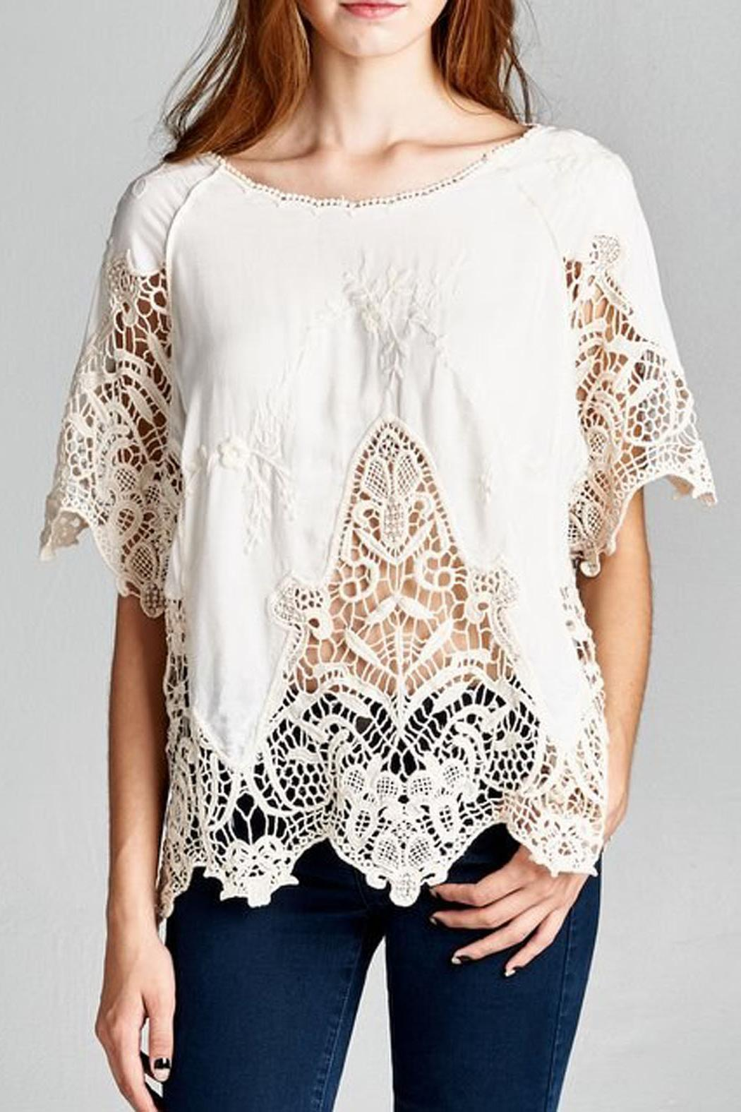 Jodifl Embroidered Crochet Blouse - Main Image