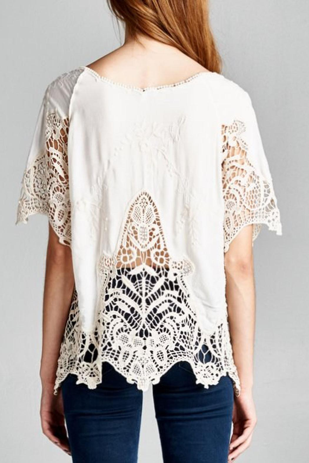 Jodifl Embroidered Crochet Blouse - Side Cropped Image