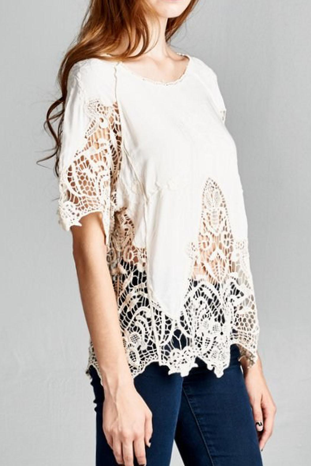 Jodifl Embroidered Crochet Blouse - Front Full Image