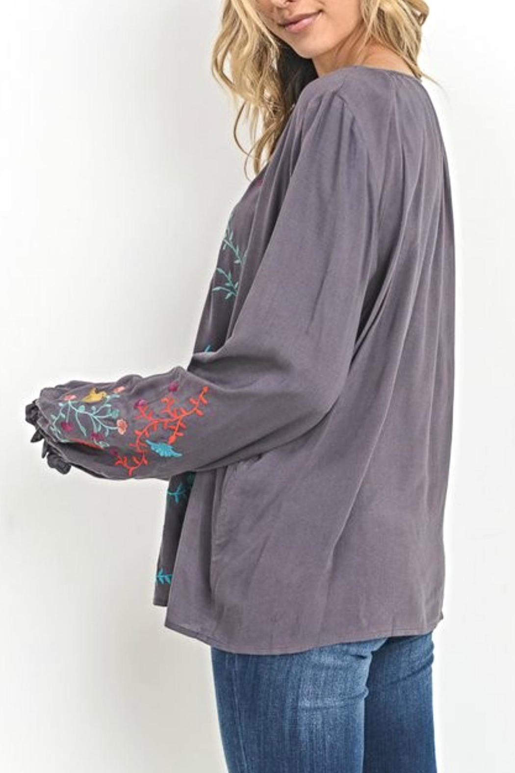 Jodifl Embroidered Peasant Top - Front Full Image