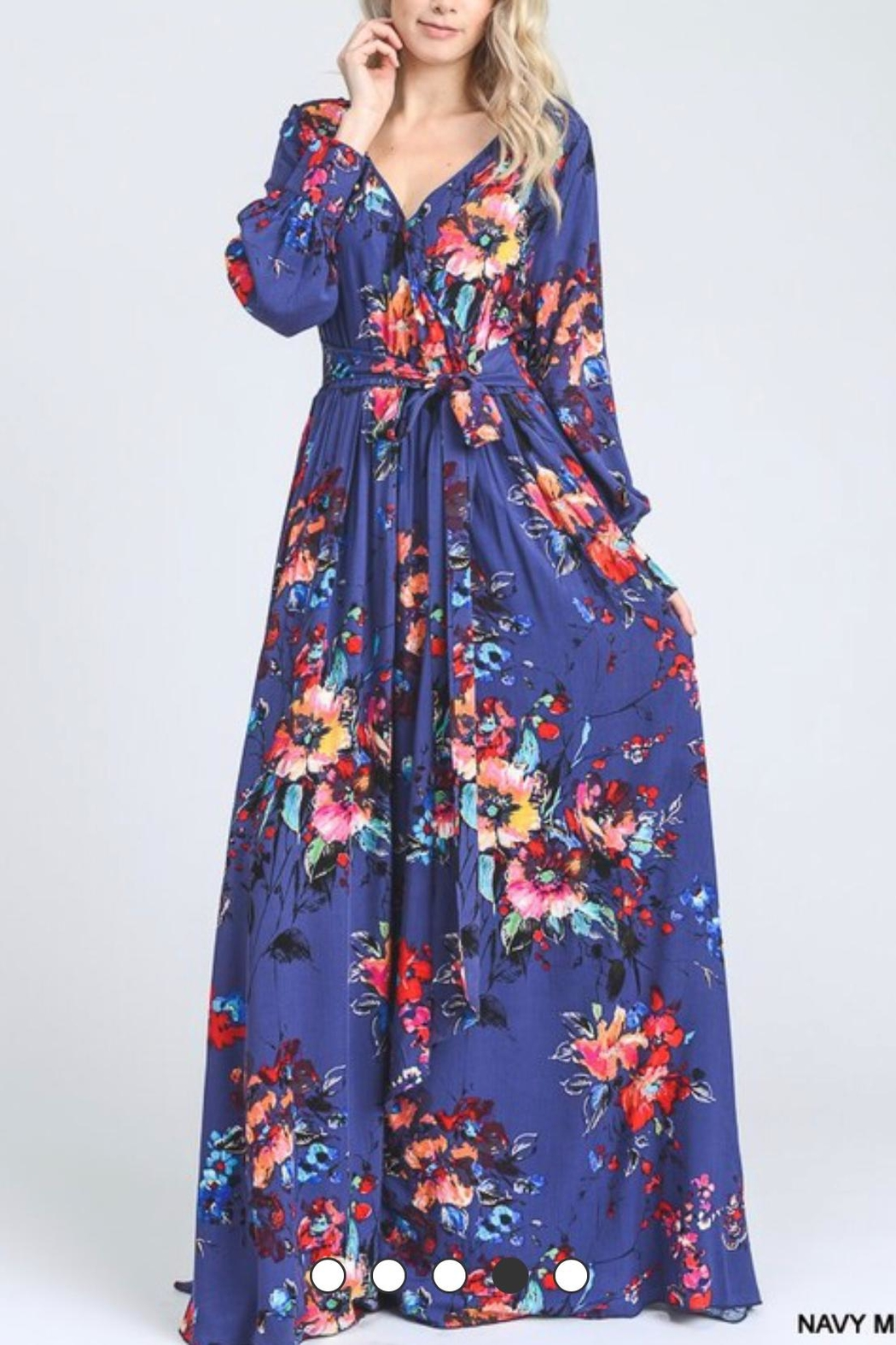 Jodifl Flirty Floral Maxi - Front Cropped Image