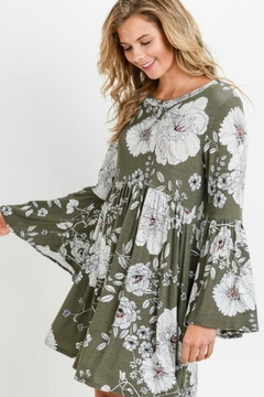 Shoptiques Product: Floral Bell-Sleeve Dress