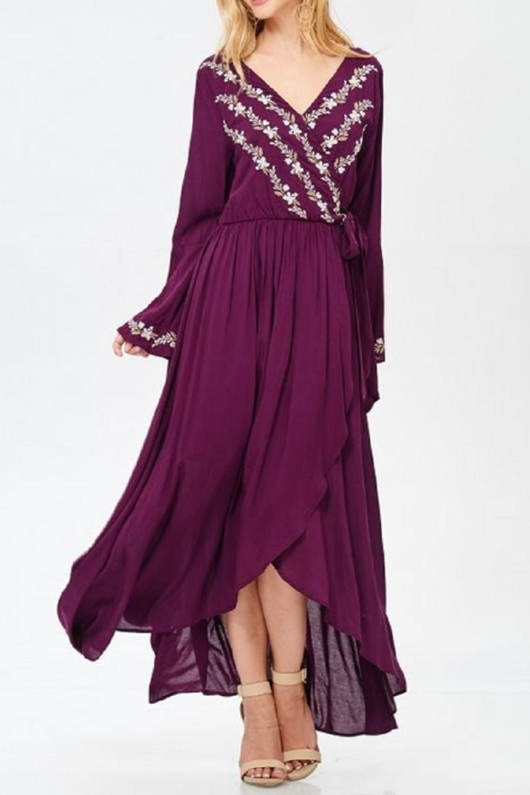 Jodifl Floral Embroidered Dress - Main Image