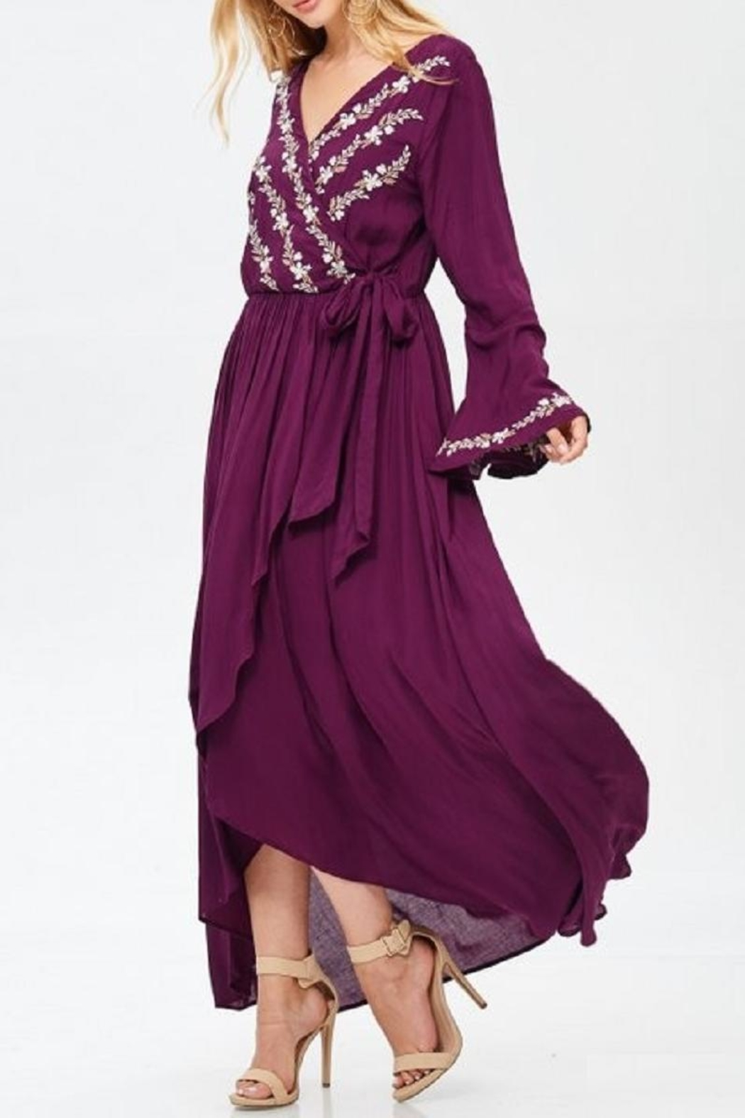 Jodifl Floral Embroidered Dress - Front Full Image