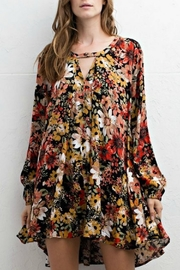 Jodifl Floral High Low Dress - Front cropped