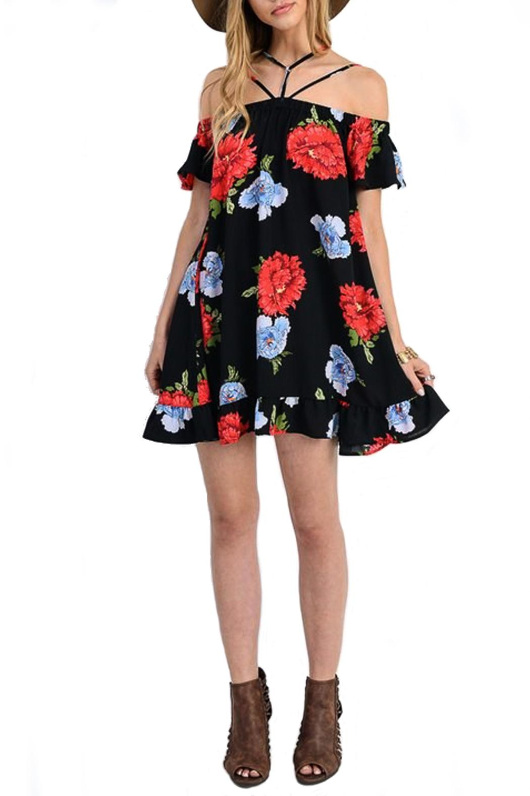 Jodifl Floral Off-The-Shoulder Dress - Front Cropped Image
