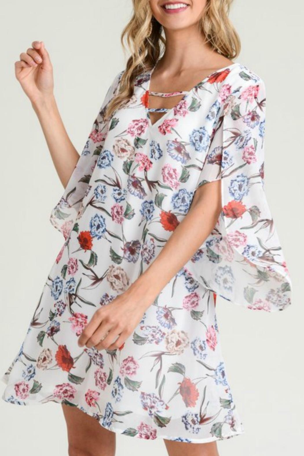 Jodifl Floral Open-Sleeve Dress - Main Image