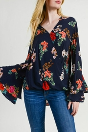 Jodifl Floral Surplice Top - Product Mini Image