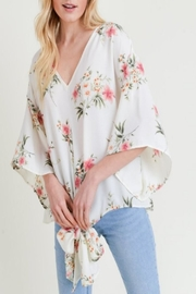Jodifl Floral Tie-Knot Top - Product Mini Image
