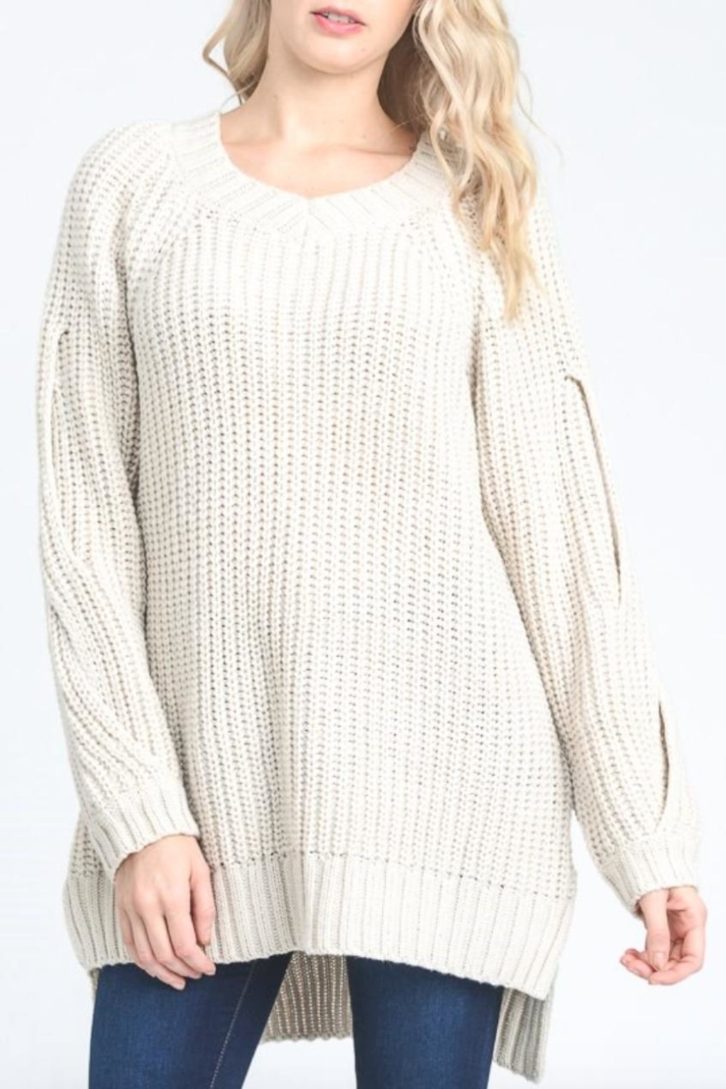 Jodifl Hidden Cold-Shoulder Sweater - Main Image