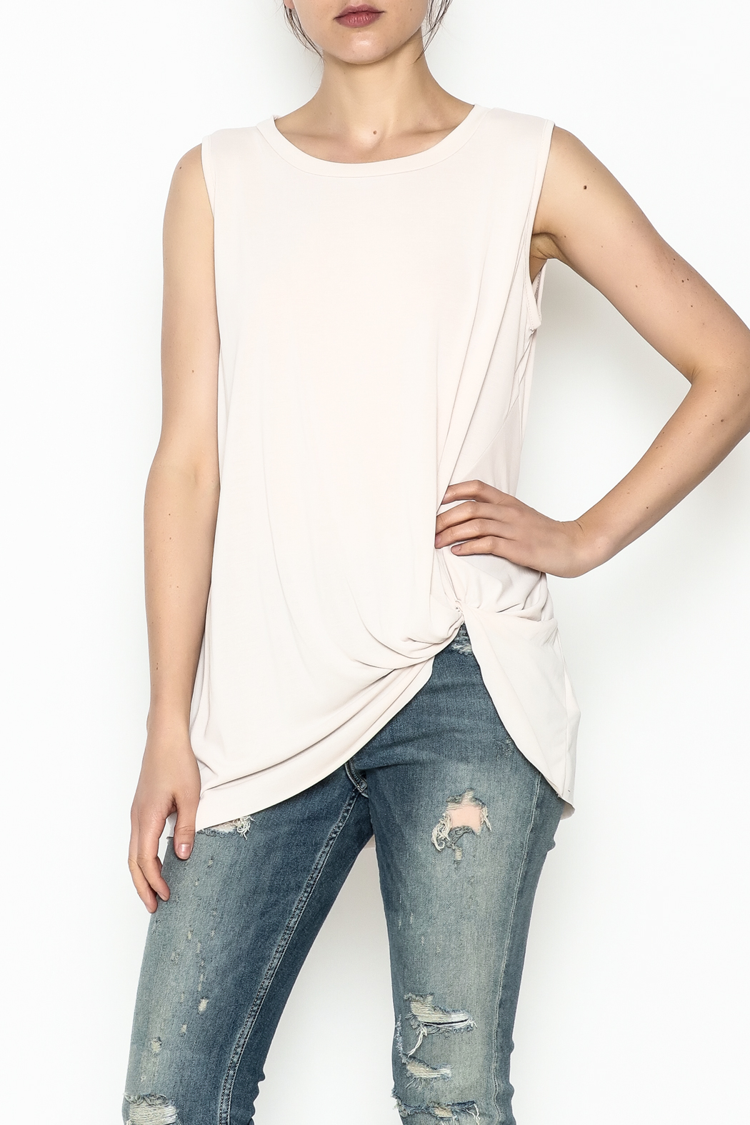 Jodifl Knotted Relaxed Tee - Main Image