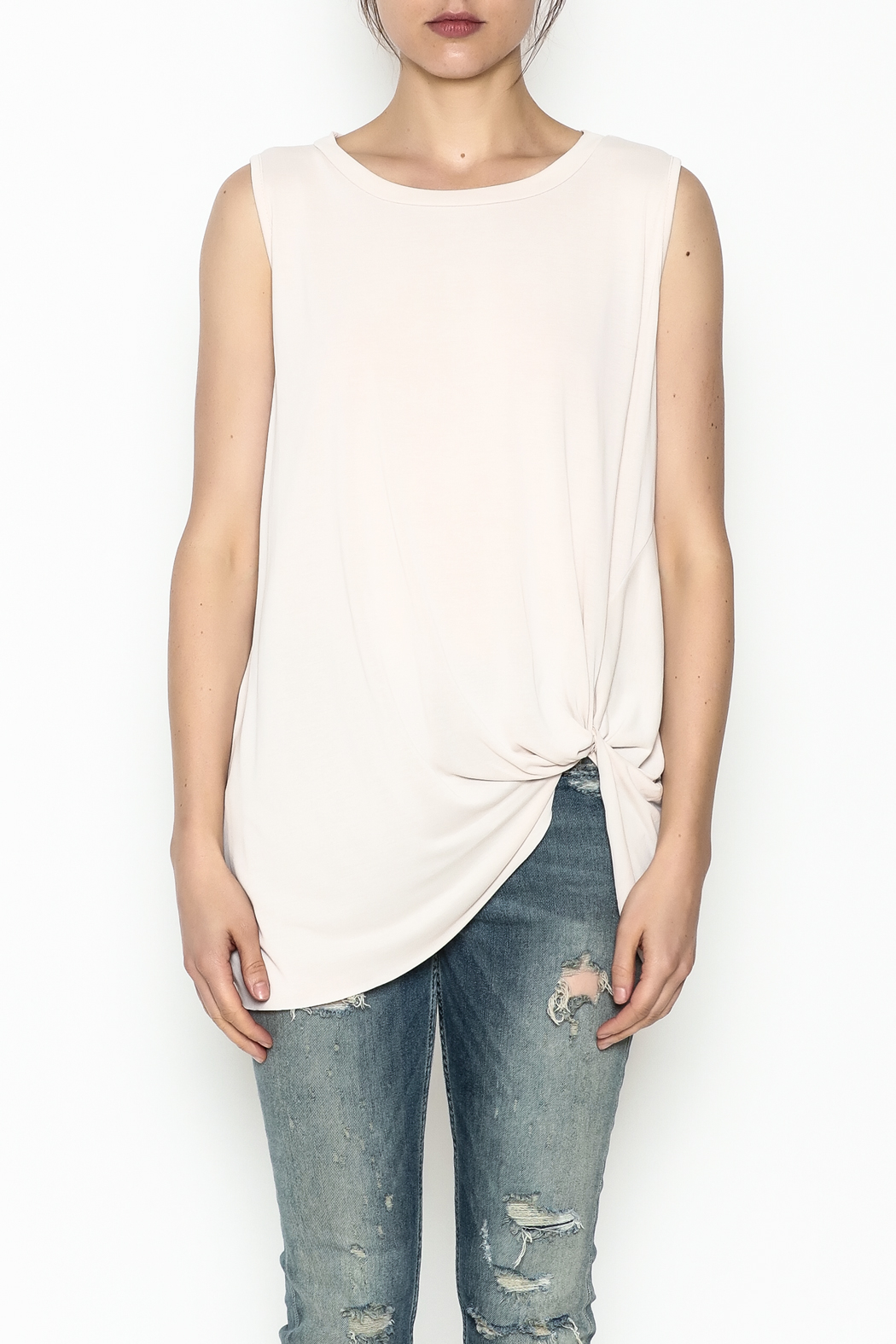Jodifl Knotted Relaxed Tee - Front Full Image