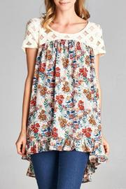 Jodifl Lace Floral Top - Product Mini Image