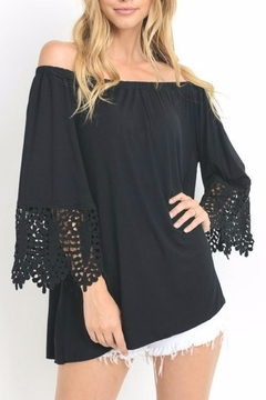 Shoptiques Product: Lace Sleeve Jersey