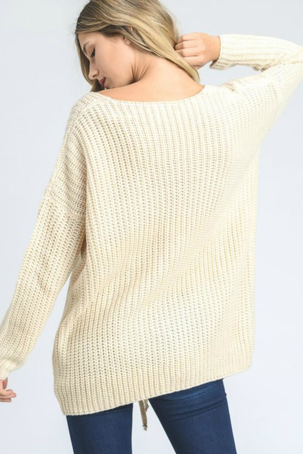 Jodifl Lace Up Sweater - Front Full Image