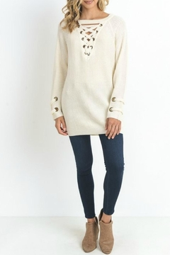 Shoptiques Product: Laced Up Sweater