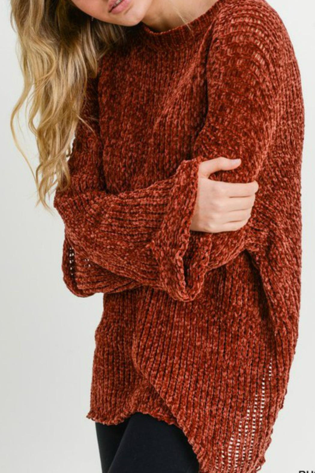 Jodifl Leia Chenille Sweater - Back Cropped Image