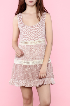 Jodifl Mauve Dress With Lace Trim - Product List Image
